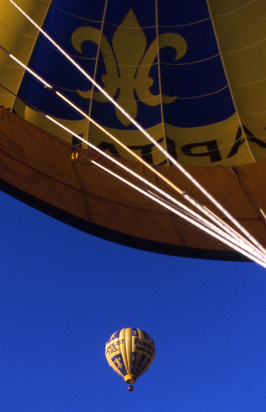 Public relations photography of Forbes Magazine's hot air balloon