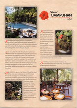 Balinese hotel brochure photography
